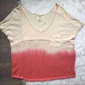 Free People sun dial coral ombré oversized top XS